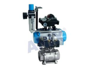 High performance Pneumatic thread  ball  Valve