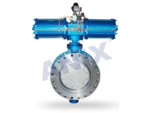 High performance metal seal pneumatic butterfly valve