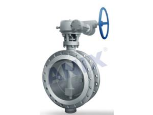 High performance metal seal gear operated butterfly valve