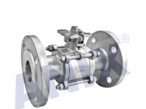 Three piece flanged high platform ball valve