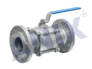 Three piece flange ball valve