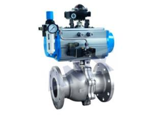 High performance Pneumatic flanged ball  Valve