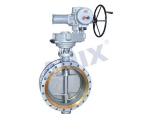 High performance metal hard seal electric butterfly valve