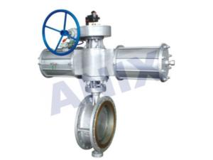 High performance metal hard seal Pneumatic butterfly valve