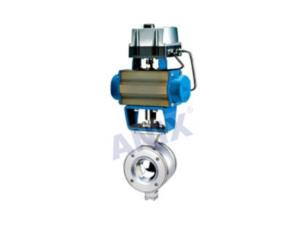 Pneumatic  High Performance V Shaped Ball Valve