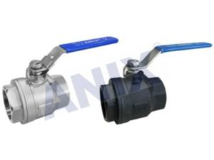 Two Piece Female Thread Ball Valve 1000WOG