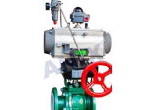 High performance pneumatic fluorine butterfly valve